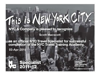 Logo nyc travel training academy certificate