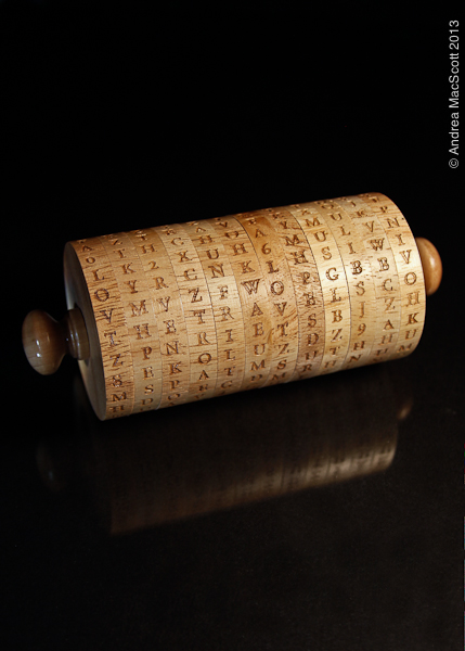 Wooden Wheel Cypher Secret Decoder